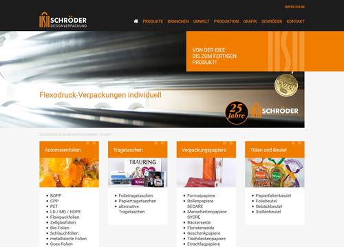 Website SCHRÖDER Designverpackung