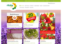Website Blumengroßhandel Ritzka