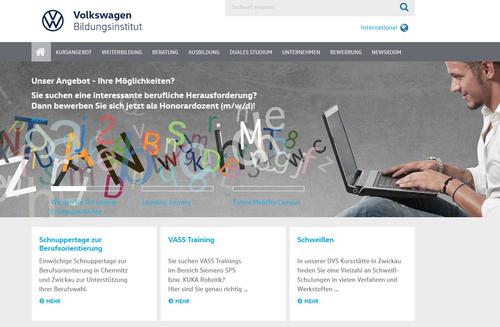 Webseite Volkswagen Bildungsinstitut