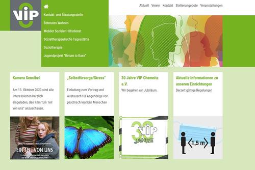 Website Verein zur Integration psychosozial behinderter Menschen Chemnitz e.V.