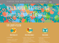 Website Kinder- und Familienzentrum Chemnitz