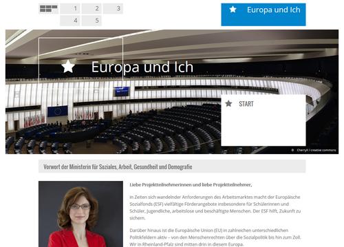 Website Europa und Ich